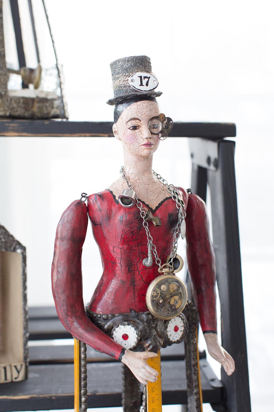 Steampunk Santos Doll by Rochelle Gaukel